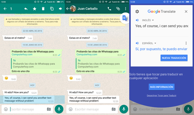 Como usar o Google Translate em WhatsApp 3